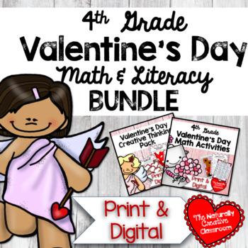 Valentine's Day Math & Literacy BUNDLE for 4th Grade