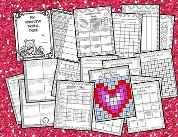 Valentine's Day Math & Literacy BUNDLE for Year 4-UK