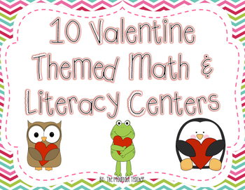Valentine's Day Math & Literacy Centers for Second Grade