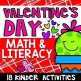 Valentine's Day Math & Literacy Activities- Kindergarten