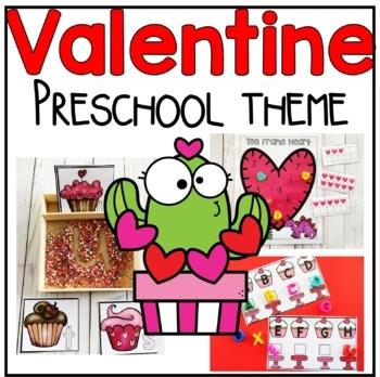 Valentine's Day Math, Literacy, and Writing Preschool & PreK Pack