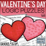 Valentine's Day Math Logic Puzzles {Critical Thinking for Grades 4 & up}