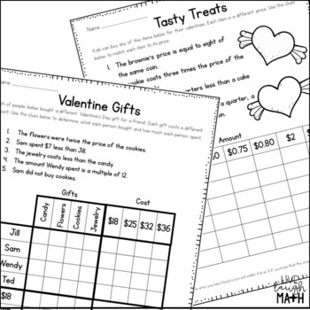 Valentine's Day Math Logic Puzzles {Critical Thinking Activities for Grades 3-4}