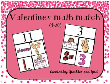 Valentine's Day Math Match