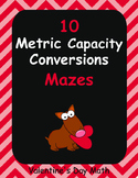 Valentine's Day Math: Metric Capacity Conversions Maze