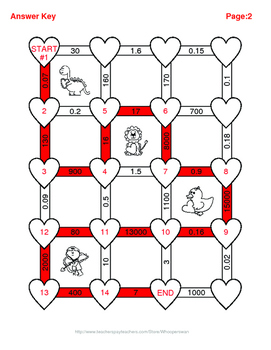 Valentine's Day Math: Metric Capacity Conversions Maze