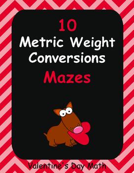 Valentine's Day Math: Metric Weight Conversions Maze