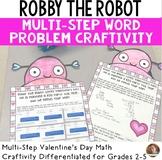 Valentine's Day Math Craft: Multi-Step Word Problem Craftivity