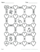 Valentine's Day Math: Multiplication Maze (Multiplying by 10, 100, and 1000)