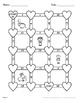 Valentine's Day Math: Multiplying Integers Maze
