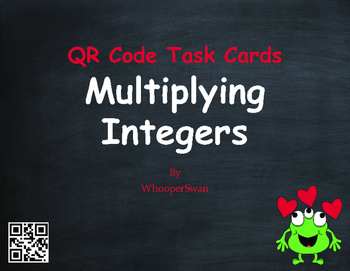 Valentine's Day Math: Multiplying Integers QR Code Task Cards