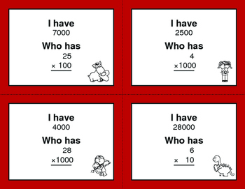 Valentine's Day Math: Multiplying by Multiples of 10, 100, and 1000