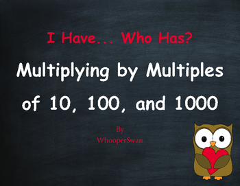 Valentine's Day Math: Multiplying by 10, 100, and 1000