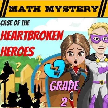 Valentine's Day Math Mystery Game 2nd Grade Math Worksheets CSI Activity