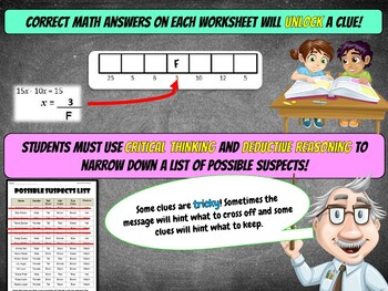 7th Grade Valentine's Day Math Mystery Activity - {Fun Math Review}