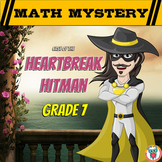 7th Grade Valentine's Day Math Mystery Activity - Printable & Digital Worksheets