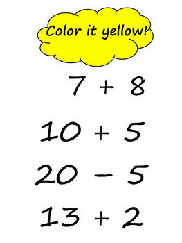 Math Mystery Picture - Addition and Subtraction