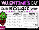 Valentine's Day Math Mystery Jokes **3rd Grade**