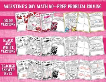 Valentine's Day Math: NO PREP Problem Solving