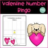 Valentine's Day Math Number Bingo