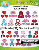 Valentine's Day Math Number Bonds Clipart {Zip-A-Dee-Doo-Dah Designs}