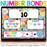 Valentine's Day Math Number Bonds for PowerPoint & GOOGLE