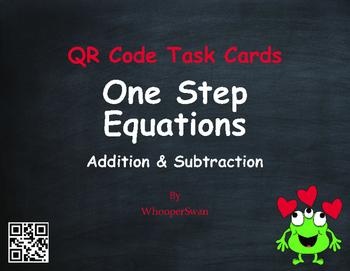 Valentine's Day Math: One Step Equations (Addition & Subtr