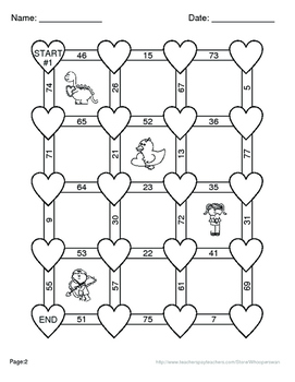 Valentine's Day Math: One Step Equations Maze