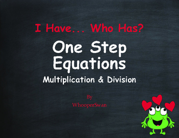 Valentine's Day Math: One Step Equations (Multiplication & Division)