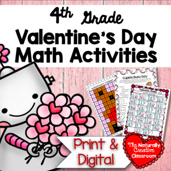 Valentine's Day Math Pack for 4th Grade