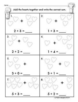 Valentine's Day Math Pages