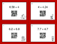 Valentine's Day Math: Percents to Decimals QR Code Task Cards