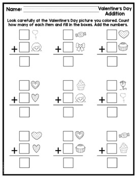 Valentine's Day Math Picture Pages