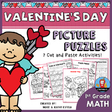 Valentine's Day Math Picture Puzzles {1st Grade}