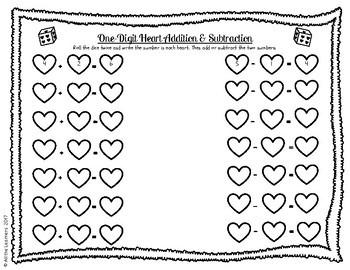 Valentine's Day Math Practice