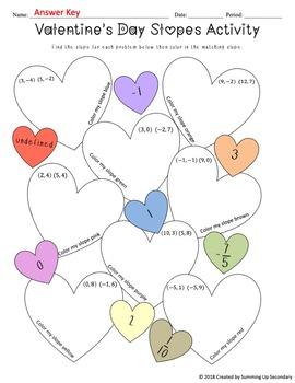 Valentine's Day Algebra Practice Worksheets