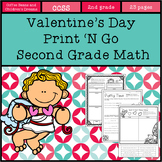 Valentine's Day  Print 'N Go Second Grade Math