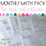 Valentine's Day Math Printables for Special Education