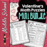 Valentine's Day Math Puzzles Mini Bundle