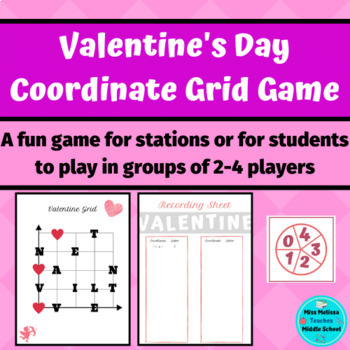 Valentine's Day Math: Quadrant I Coordinate Grid Game
