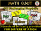 Valentine's Day Math Quest Activity - Differentiated Math Worksheets Bundle
