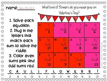 Valentine's Day Math Riddles