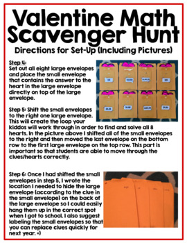 Valentine's Day Math Scavenger Hunt