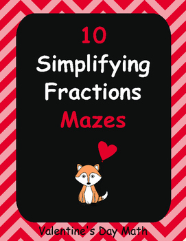 Valentine's Day Math: Simplifying Fractions Maze