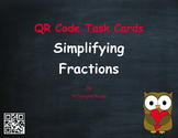 Valentine's Day Math: Simplifying Fractions QR Code Task Cards