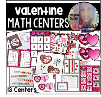 Valentine's Day Math Stations