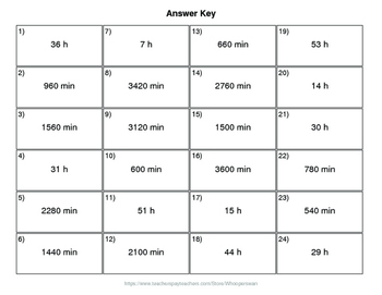 Valentine's Day Math: Time Conversion: Minutes & Hours QR Code Task Cards
