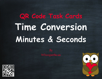 Valentine's Day Math: Time Conversion: Minutes & Seconds Q