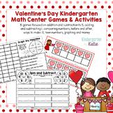 Valentine's Day Kindergarten Math Center Games and Activities