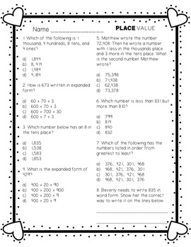 Valentine's Day Math Unit WITH Answer Keys!